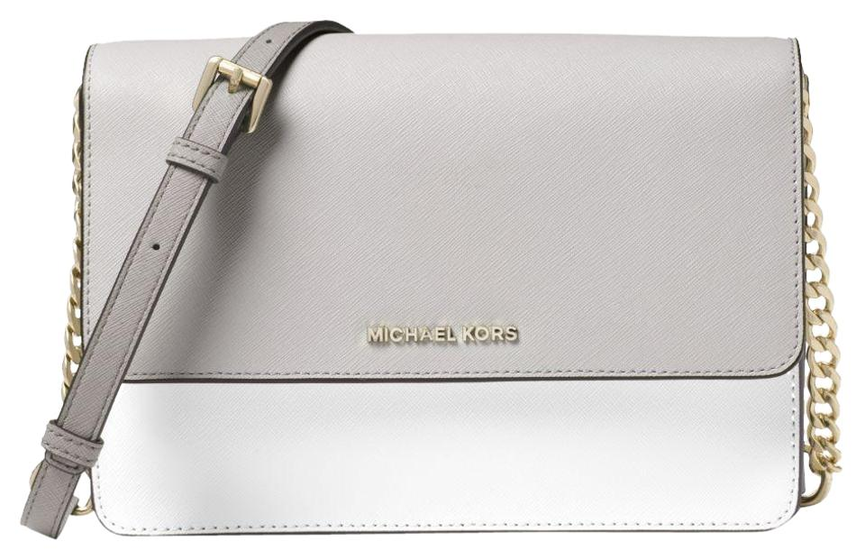 c6981521fce781 Michael Kors Leather Grey/White 32t8tf5c6t Cross Body Bag Image 0 ...