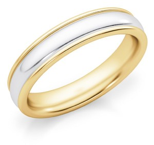 Apples of Gold 4mm Two-tone Plain Band Ring