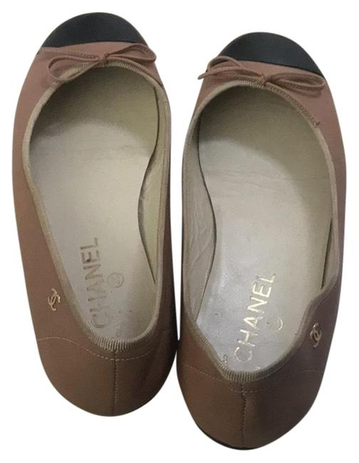 Item - Nude and Black Classic Ballet Leather Flats Size EU 38 (Approx. US 8) Regular (M, B)