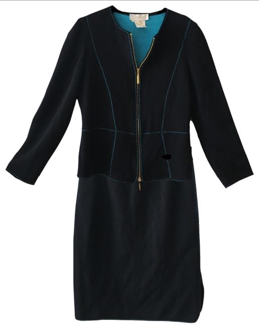 Item - Black and Turquoise Skirt Suit Size 6 (S)