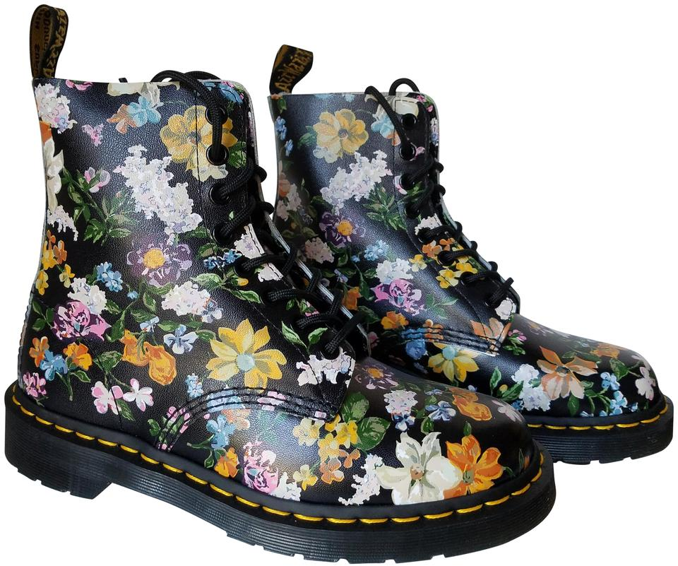 Dr. Martens Darcy Black/ Floral 1460 Pascal Darcy Martens Backhand Print Boots/Booties 0c5b92
