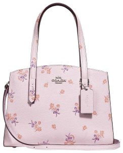 Coach Satchel in Ice Pink/Silver