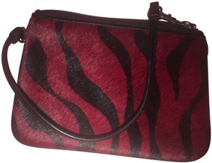 Wilsons Leather Wristlet in Red and black