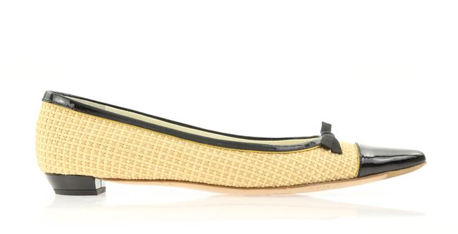 Item - Beige Woven Raffia Pointed Toe Ballet Flats Size EU 37 (Approx. US 7) Regular (M, B)
