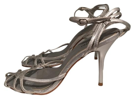 New York & Company Silver Sandals