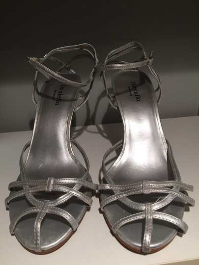New York & Company Silver Sandals Image 1