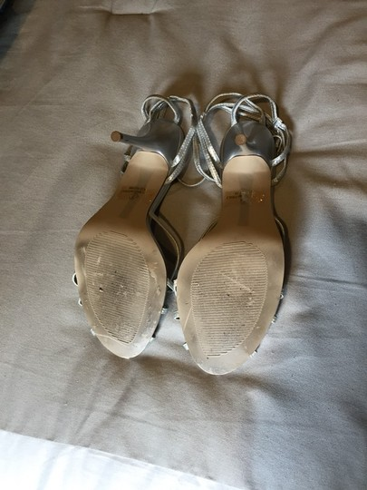 New York & Company Silver Sandals Image 2