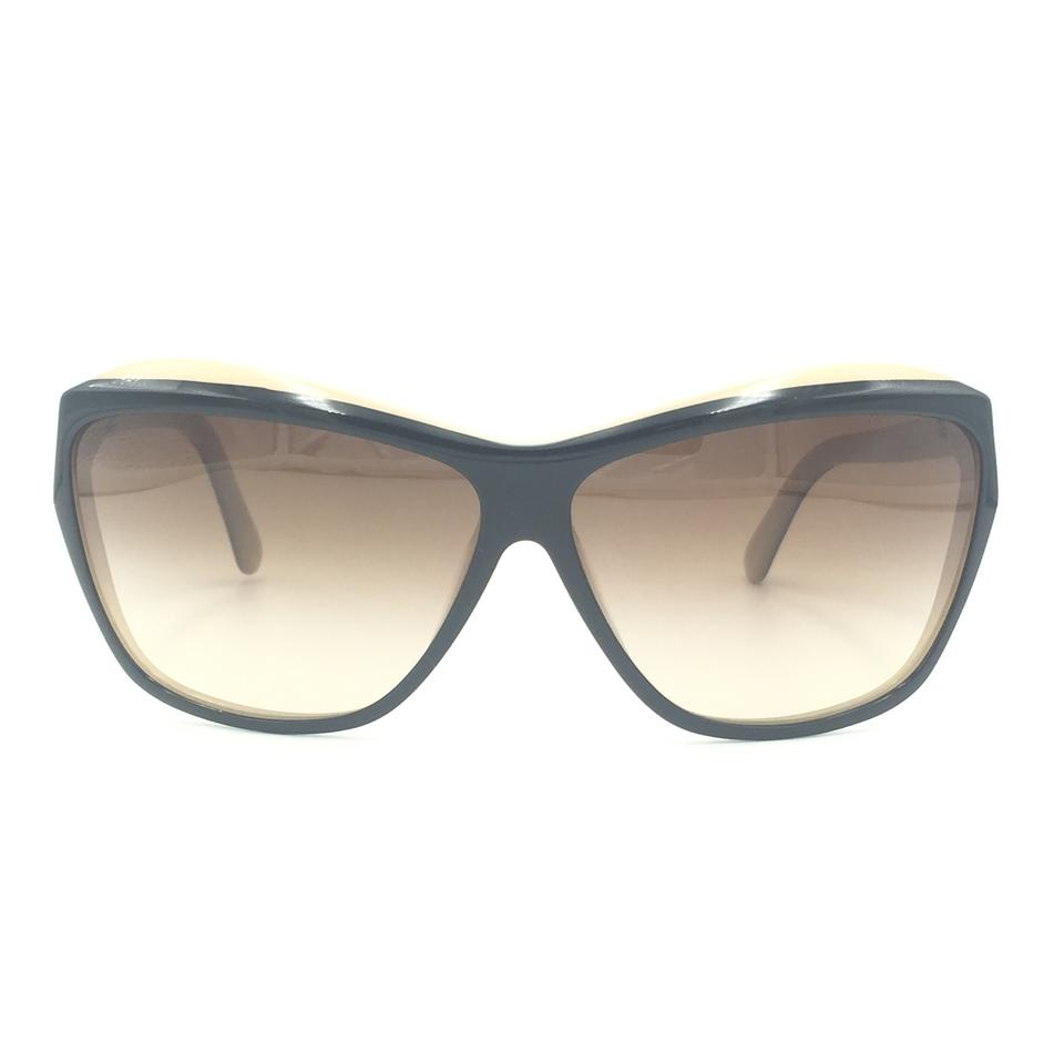 9a86261204200 Chanel Oversided Black Beige Brown Gradient Sunglasses 5153 1157 3B Image 0  ...