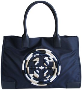 Tory Burch Ella Packable Nylon Tote in Navy