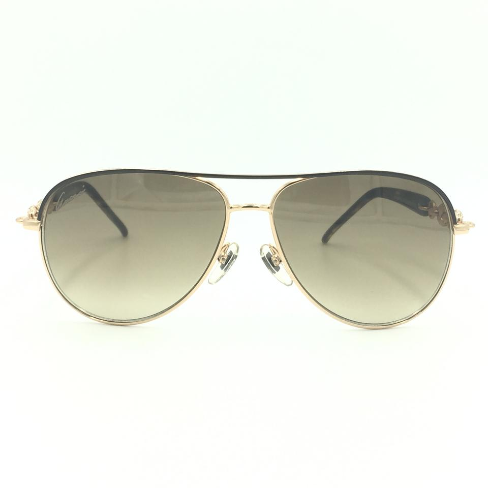 00a2923111cab Gucci Aviator Gold Brown Marina Chain Crystals GG 4239 N S 0JJCC Image 0 ...