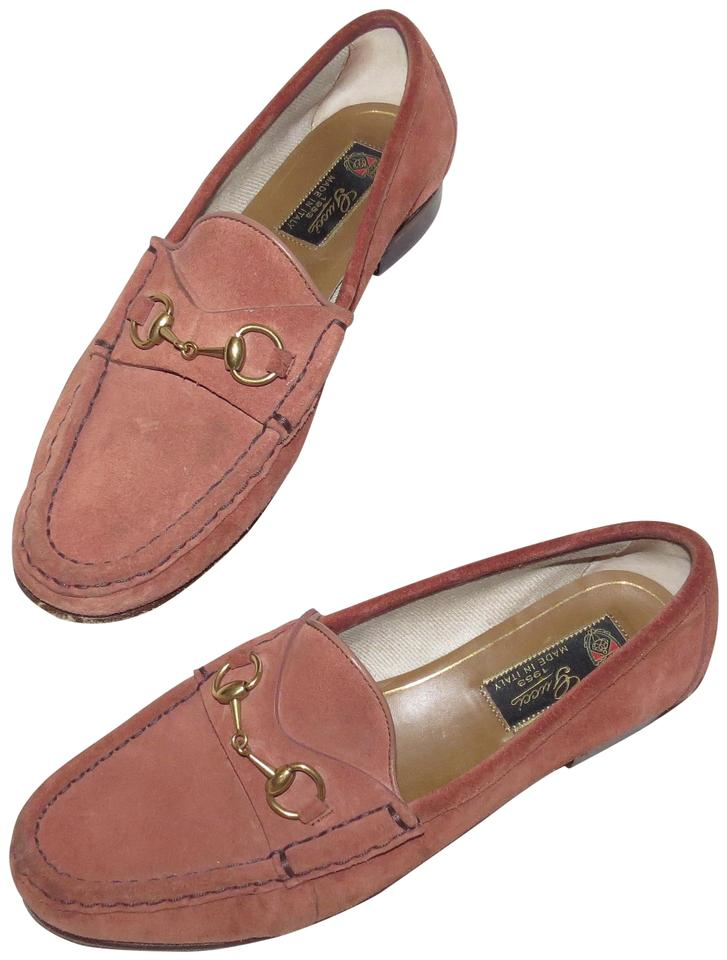af7edf17056 Gucci Pink Horsebit Suede Loafers Flats. Size  EU 37.5 (Approx. US 7.5)  Regular ...