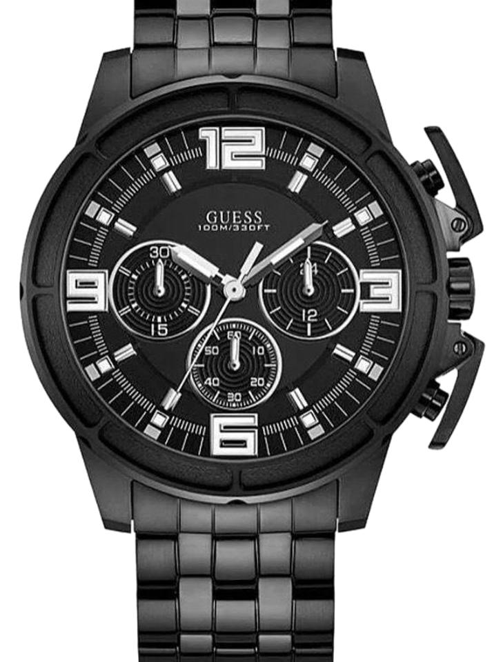 ca445d031296 Guess Black Men s Ip Stainless Steel Chronograph Watch - Tradesy