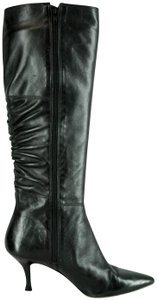 Corso Como Leather Rushed Black Boots