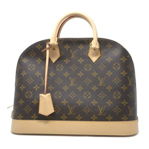 Louis Vuitton Alma Mm Monogram Handbag Satchel in Brown