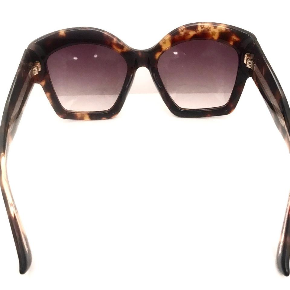 bae79c21db Gucci Dark Brown Havana Gold Star Studs Gg 3870 S Y4xvk Oversized ...