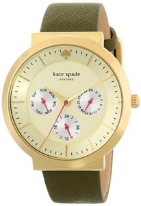 Kate Spade kate spade new york Dirty Martini Women's 1YRU0509 Metro Grand Chronograph Analog Display Japanese Quartz Green Watch