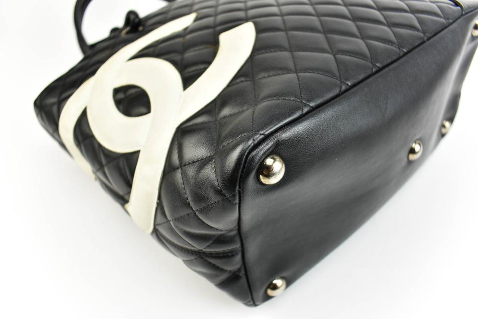 1333b8fd2086ac Chanel Cambon Black Quilted Leather &