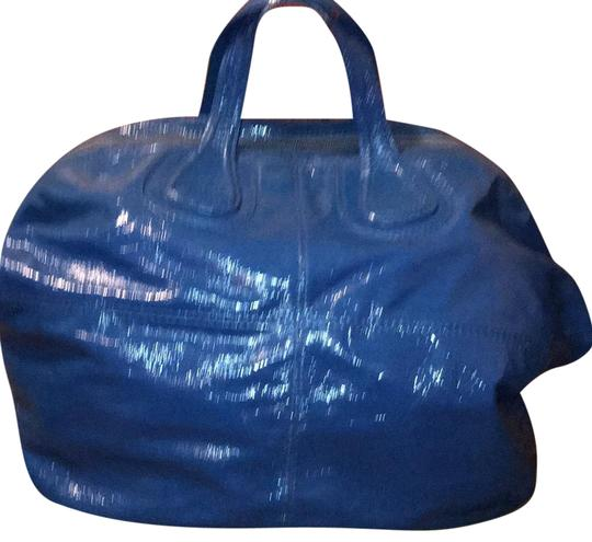 e01405a5b5380 Givenchy Extra Large Nightingale Electric Blue Patent Leather Hobo ...