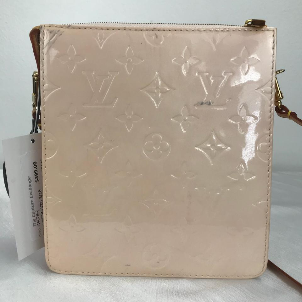 7ac33cd4a1a8 Louis Vuitton Mott Nude Vernis Blush Patent Leather Shoulder Bag - Tradesy