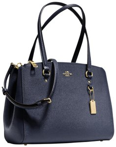Coach Limited Edition Rare Leather Chain Woven Tote in Navy
