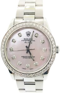 Rolex Rolex Air-King Steel Pink Mother of Pearl Diamond Dial 34mm Watch