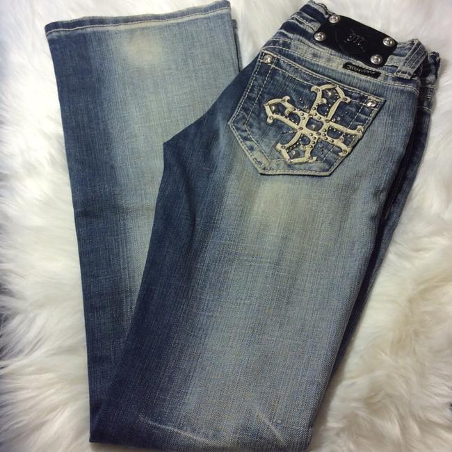 Miss Me Boot Cut Jeans-Distressed Image 2