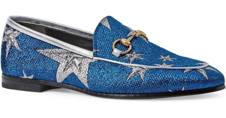 7c6c6beea Gucci Blue New Jordaan Bluette Silver Star Princetown Loafer Mule Slipper  Flats Size EU 36.5 (Approx. US 6.5) Regular (M, B) - Tradesy