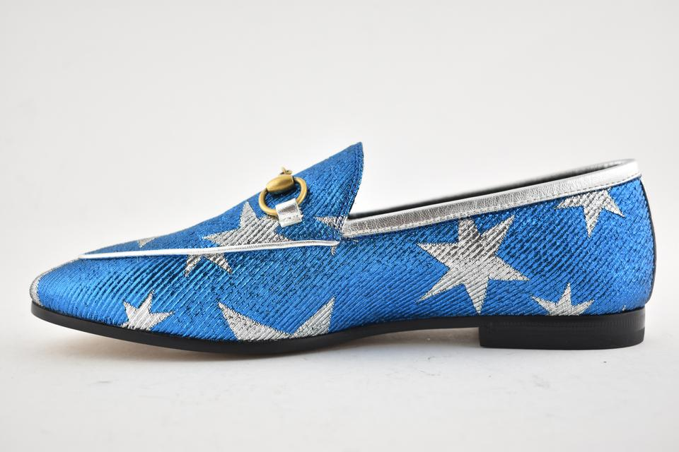 7cc4dec82 Gucci Princetown Loafer Mule Slide blue Flats Image 11. 123456789101112