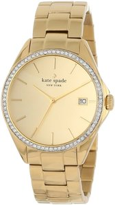 Kate Spade kate spade new york Watch, Women's Seaport Grand Gold-Tone Stainless Steel Bracelet 38mm 1YRU0102