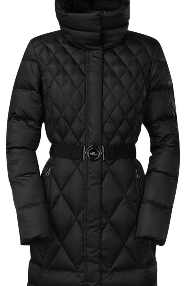 The North Face Black Women Apres Parkina Parka Water Resistance 600 Pro Down  with Faux Fur Medium Coat bdd76ef8e5