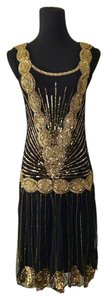 Frock and Frill Drop Waist Beaded Vintage Dress
