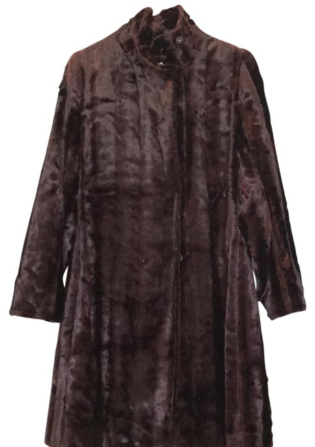 Item - Burned Brown Faux Textured Coat Size 4 (S)