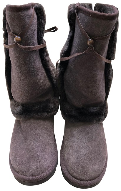 Item - Dark Brown Winter Sheepskin Upper Boots/Booties Size US 7 Wide (C, D)