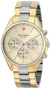 Kate Spade kate spade new york Watch, Women's Chronograph Seaport Two-Tone Stainless Steel Bracelet 38mm 1YRU0200