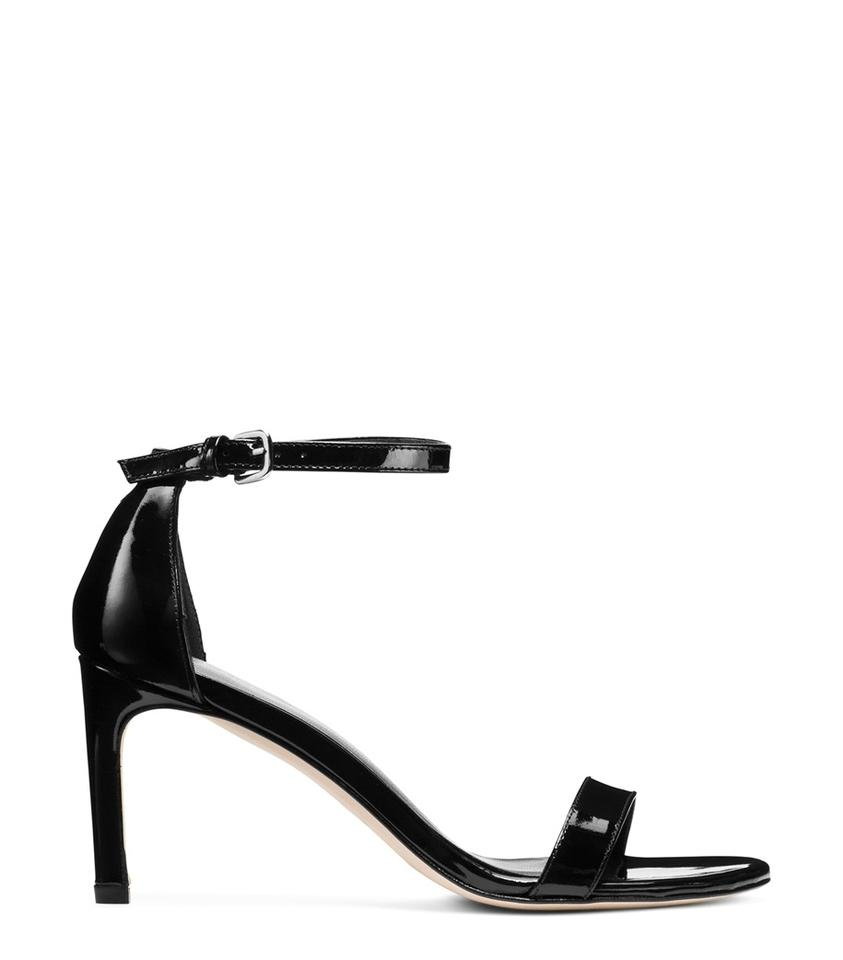 eb45f9806769 Stuart Weitzman Leather Ankle Strap Heels Black Patent Sandals Image 0 ...
