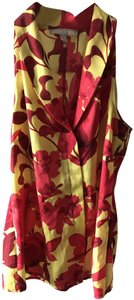 Banana Republic Top Red and Yellow