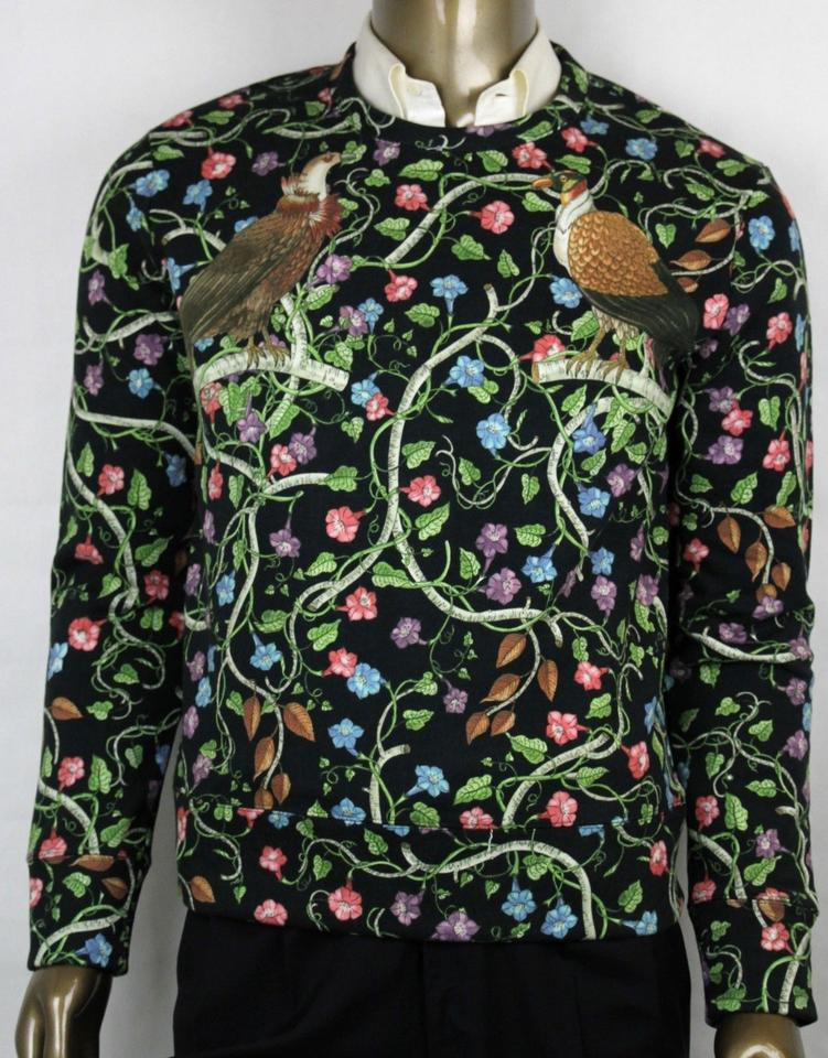 d83966a21 Gucci Multicolor XS Cotton Bird Flower Rapaci Print Sweatshirt 408241 1082  Shirt Image 0 ...