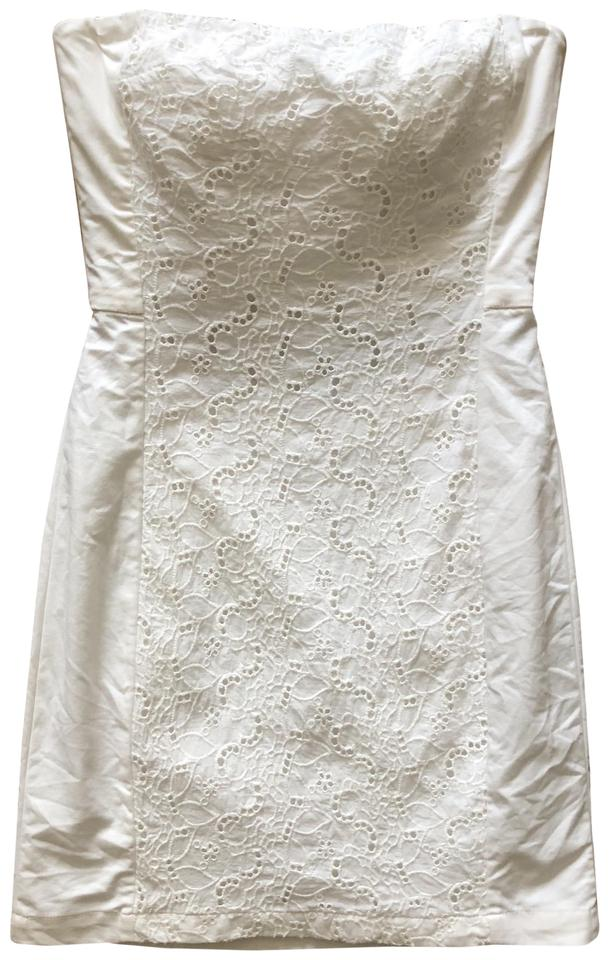 e87f1a9e62a H M White Lace Strapless Cocktail Short Casual Dress Size 6 (S ...