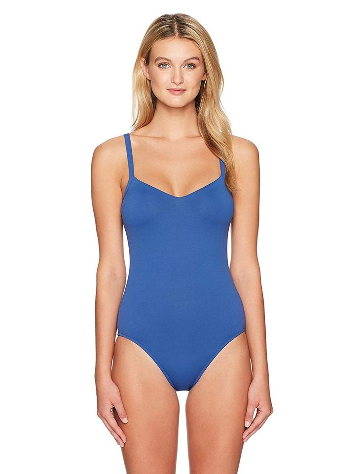 2020 sold worldwide rock-bottom price SeaFolly French Blue Sweetheart Maillot One-piece Bathing Suit Size 6 (S)  57% off retail