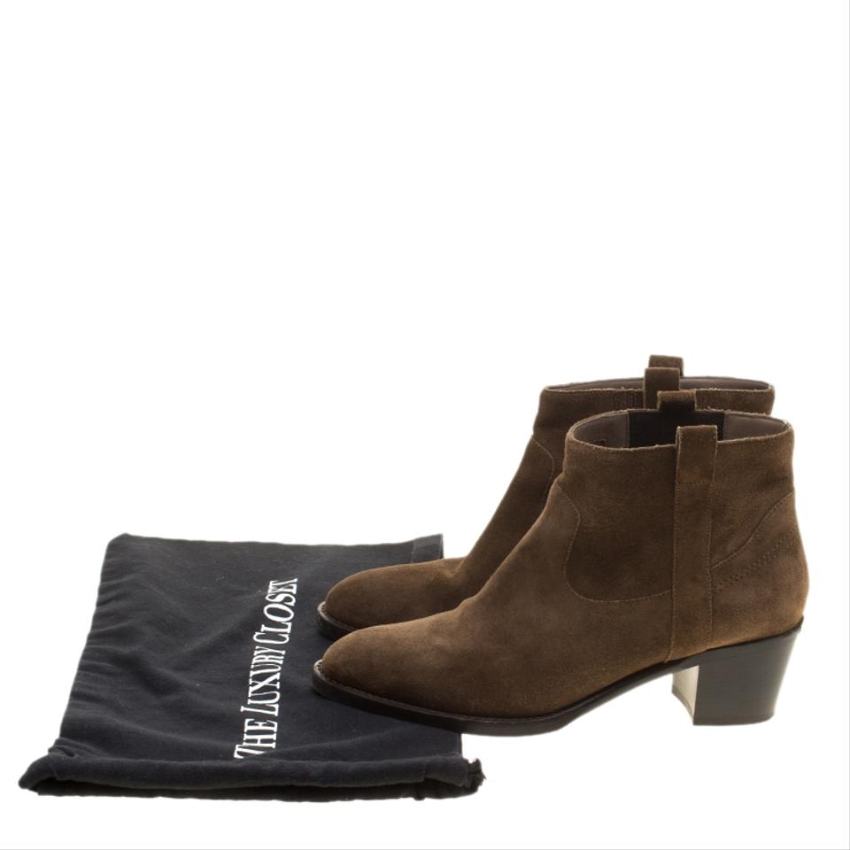 Burberry Brown Brown Burberry Suede Coletta Ankle Boots/Booties edd955