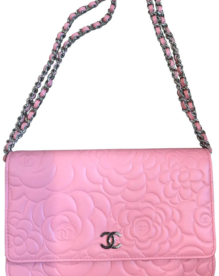 c0e78d37808f Chanel Wallet on Chain A47421y01480 Pink Lambskin Leather Cross Body Bag