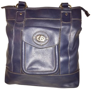 Emilie M Tote in gray-blue