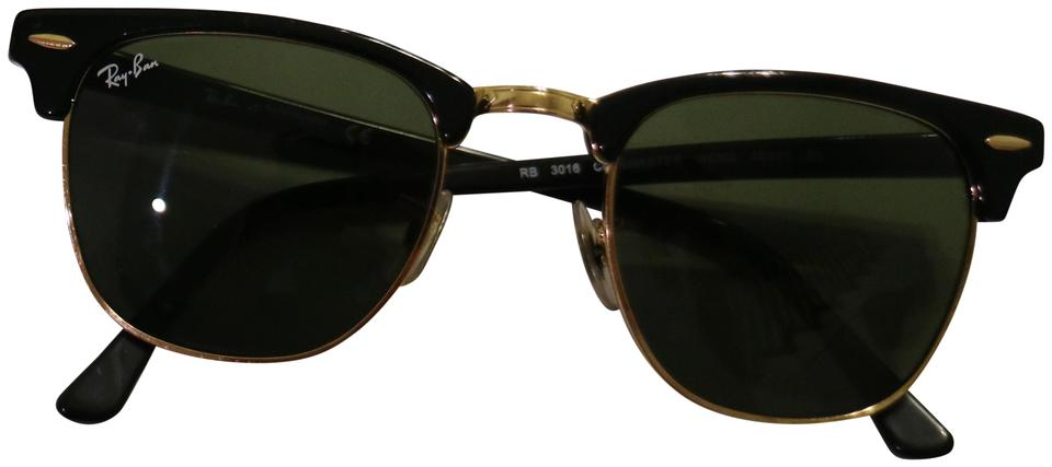 Ray Ban Black Gold Clubmaster Women S Sunglasses 25 Off Retail