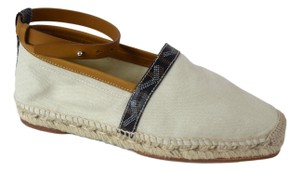 Goyard Espadrille Chanel Natural White/Tan/Black Flats