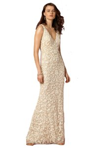 BHLDN Ivory Nude Nylon Nylon Lining Meghan Gown Lotus Threads New with Tags Retro Wedding Dress Size 4 (S)