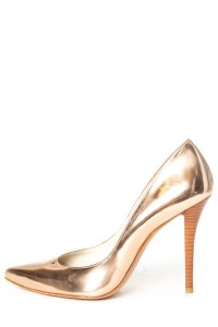 Stuart Weitzman rose gold Pumps