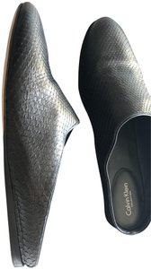 Calvin Klein Collection Python Black Flats