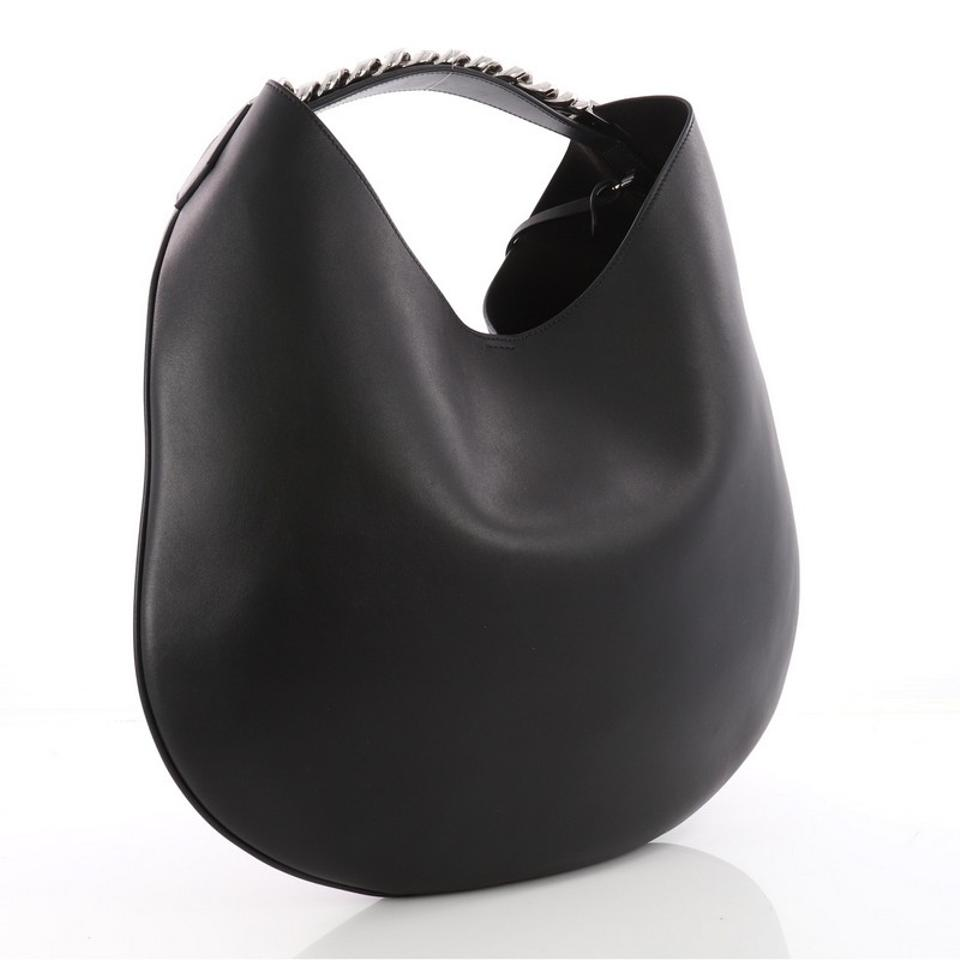 bac8bafb19 Givenchy Infinity Medium Black Leather Hobo Bag - Tradesy