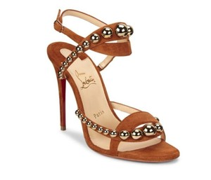Christian Louboutin Spiked Loubs Brown, bronze, cannelle Sandals