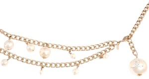 Chanel GOLD CHAIN and PEARL LOGO NECKLACE / BELT